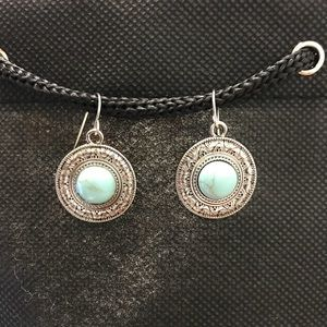 Jewelry - Turquoise Medallion Earrings